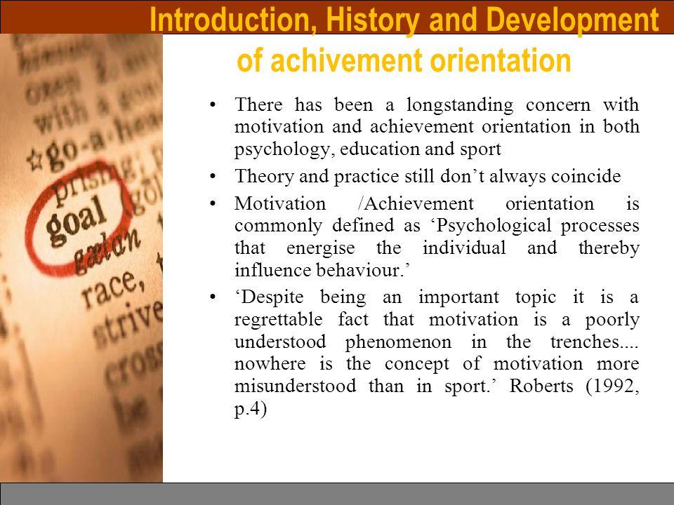development of achievement motivation pdf