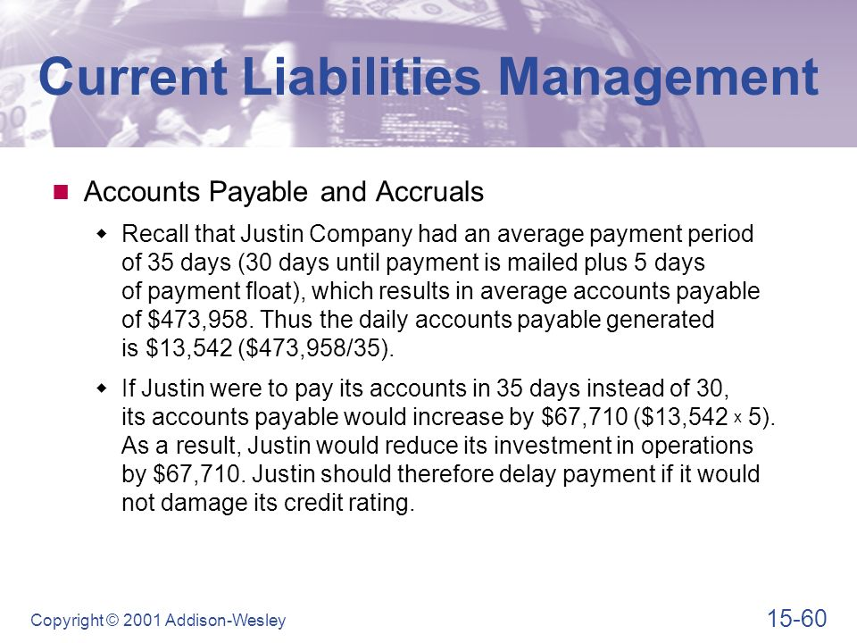 fm current liabilities management Top 10 fm trends may pleased to announce the release of the 2011 research report facility management forecast – exploring the current trends and future outlook.