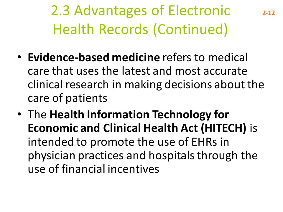 The Advantages of Electronic Medical Records