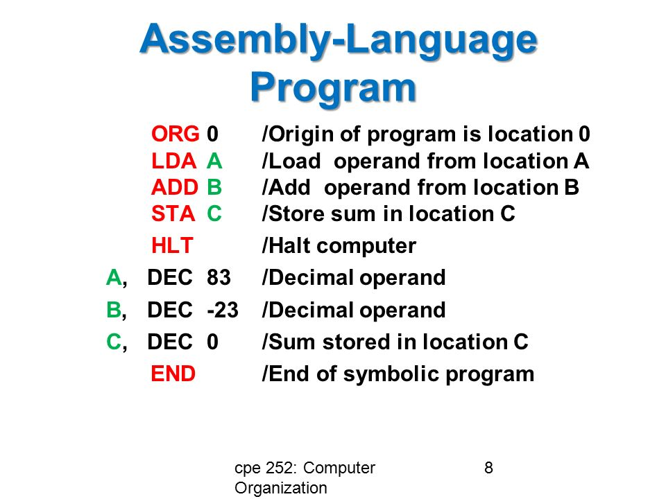 Computer Organization And Assembly Language Programming