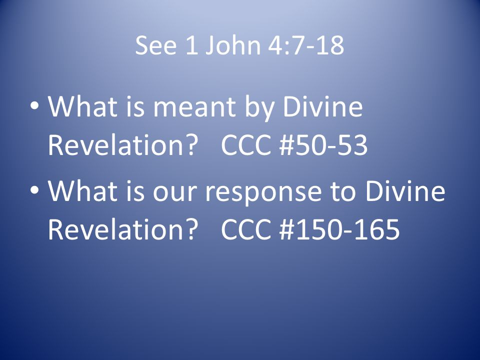 feflection paper about divine revelation In its dogmatic constitution on divine revelation (dei verbum, november 18,   under the guidance of the holy spirit, which takes place through reflection on.