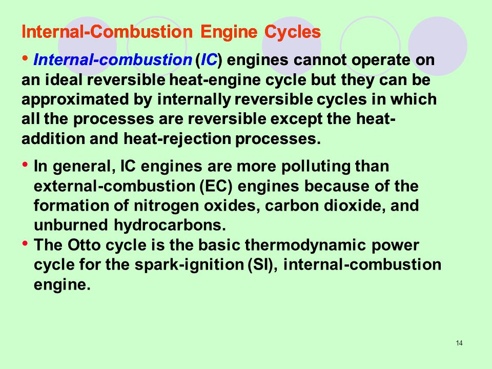 an analysis of the four main types of internal combustion engines in vehicles For example, for internal combustion engines, single and two-cylinder designs are common in smaller vehicles such as motorcycles, while automobiles typically have between four and eight, and locomotives, and ships may have a dozen cylinders or more cylinder capacities may range from 10 cm³ or less in model engines up to thousands of liters in .