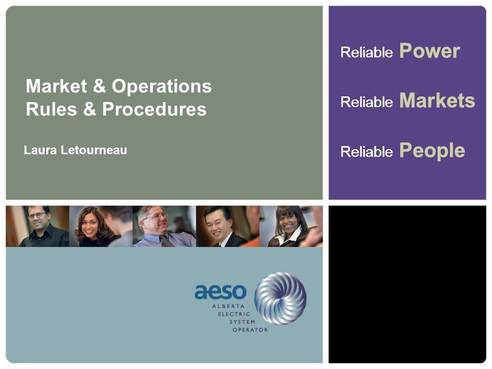 Market & Operations Rules & Procedures