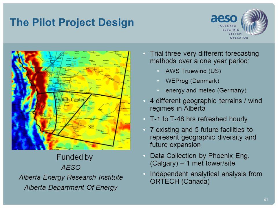 The Pilot Project Design