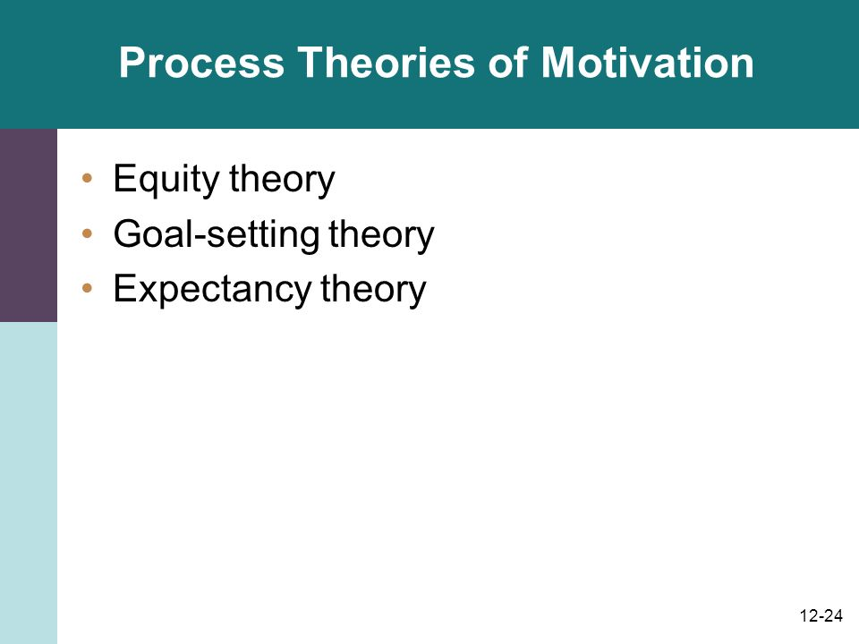 process based motivation theories What is the difference between content theory and process theory  both these theories are linked with motivation  • process theories include reinforcement,.