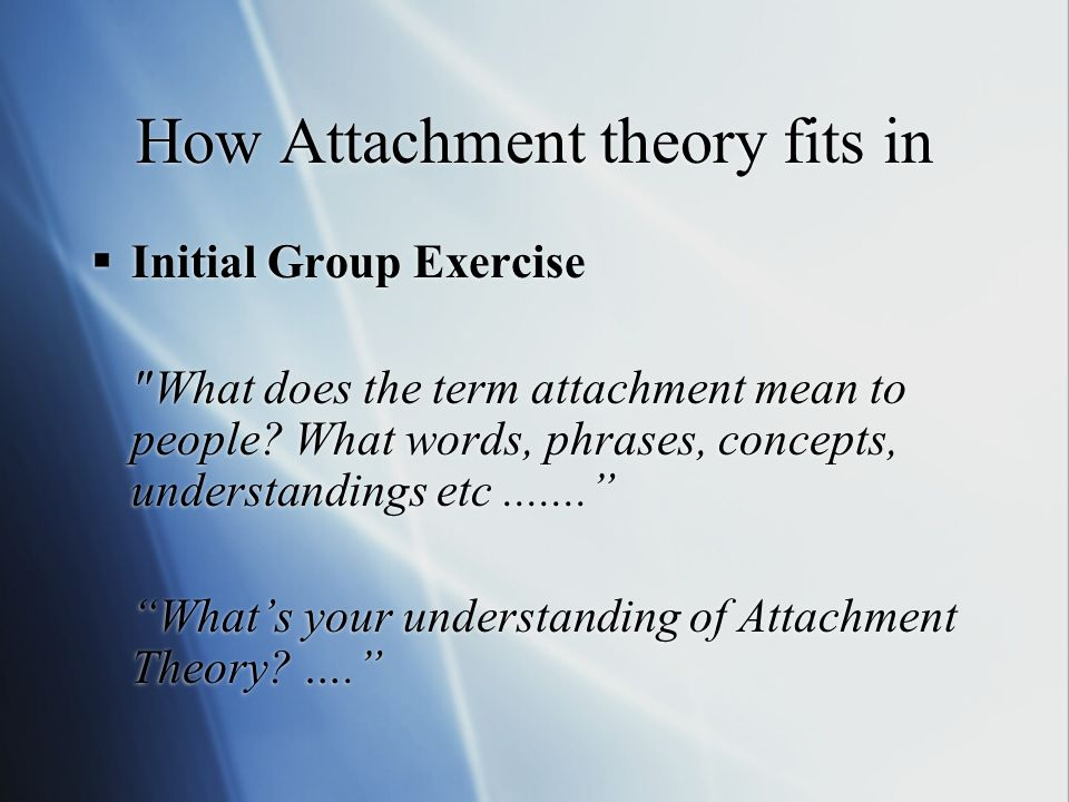 how does your understanding of attachment What does attachment look like in a school setting  we understand that a young person's challenging behaviour is a way of communicating distress and so we work with the young people so that they can find ways of better understanding and managing their distress even though one-eighty's interventions usually only last a matter of weeks.