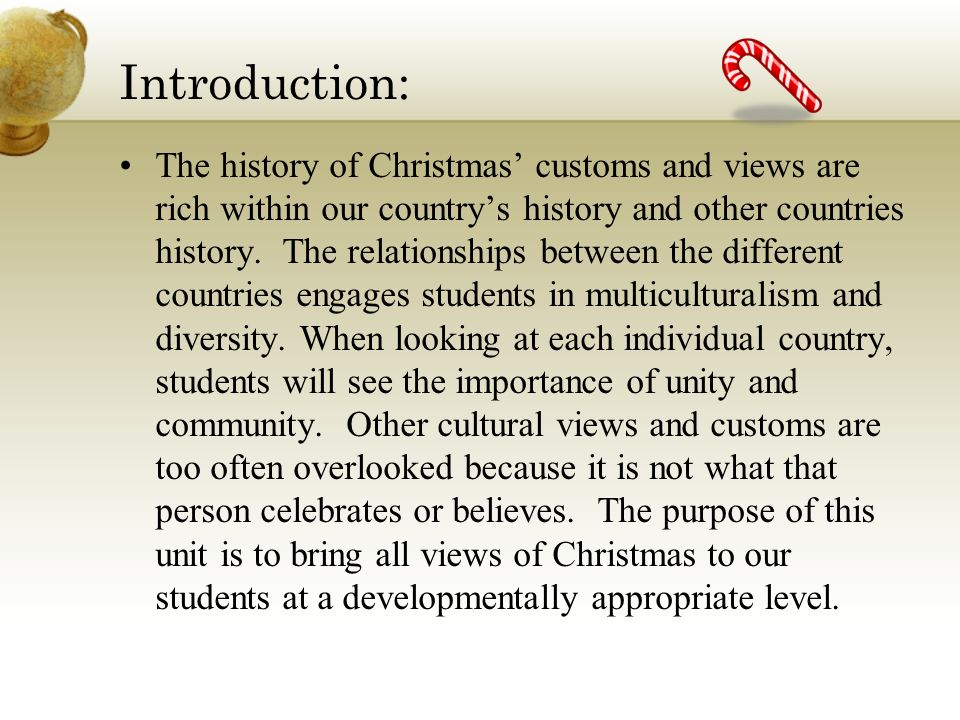an introduction to christmas and the customs related to it Find out more about the history of history of christmas, including videos, interesting articles, pictures, historical features and more  introduction   popular customs include exchanging.