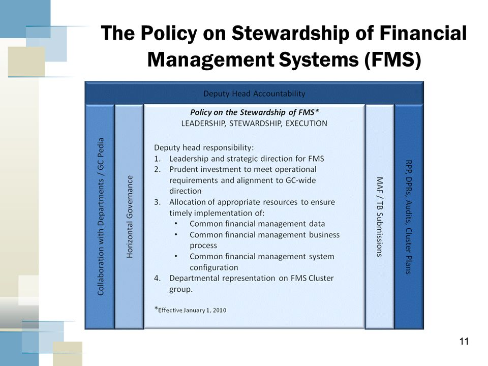 The Policy on Stewardship of Financial Management Systems (FMS)