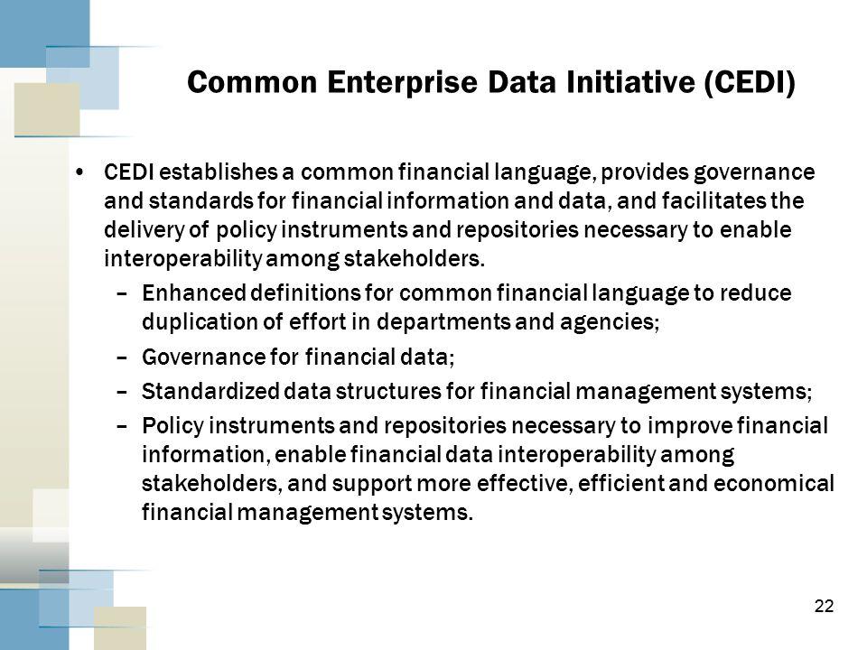 Common Enterprise Data Initiative (CEDI)