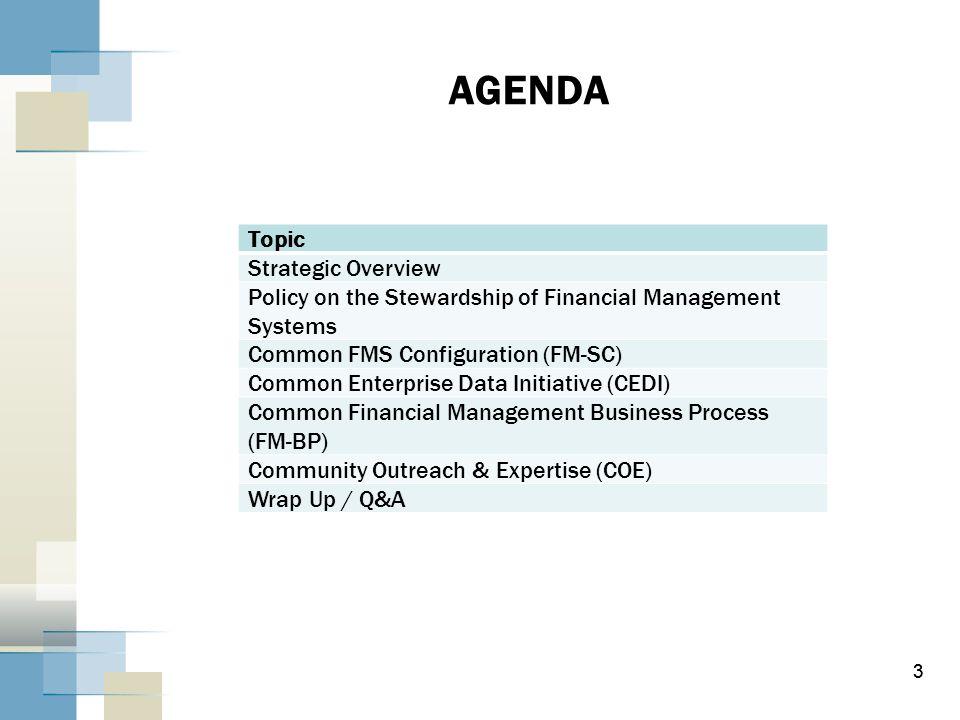 AGENDA Topic Strategic Overview