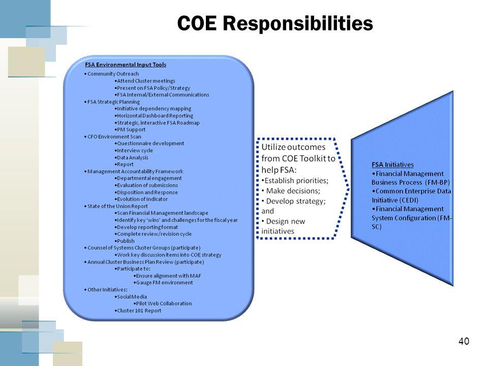 COE Responsibilities