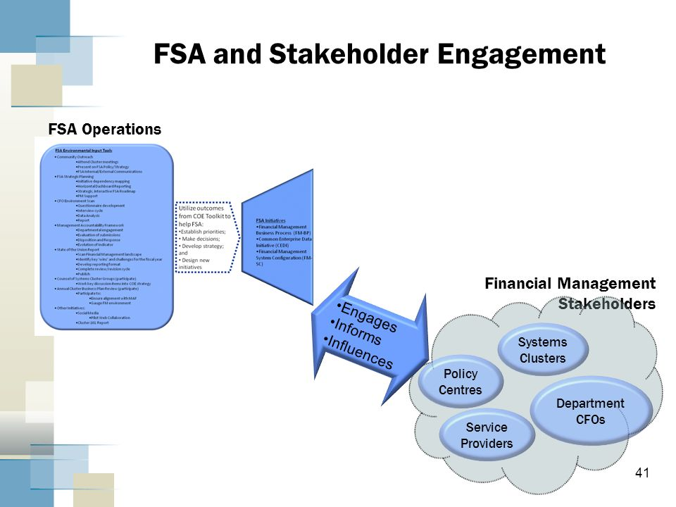 FSA and Stakeholder Engagement