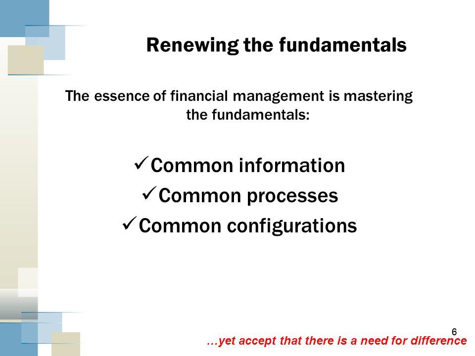 Renewing the fundamentals
