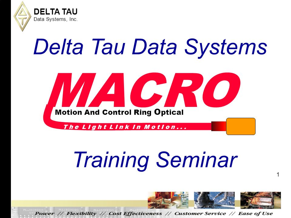 macro delta tau data systems training seminar ppt download On delta tau data systems