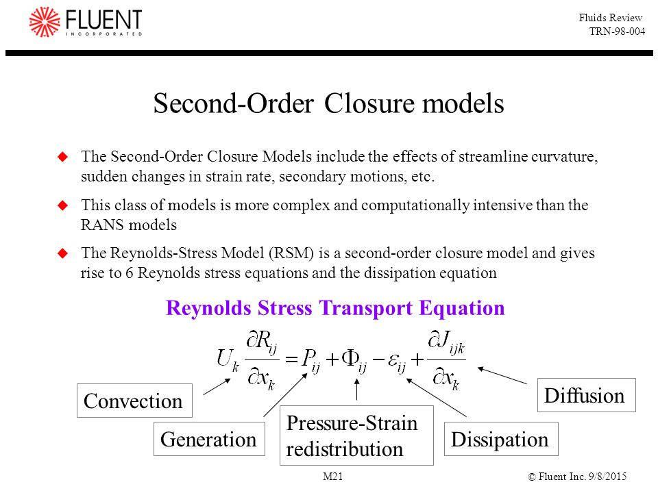 Second-Order Closure models