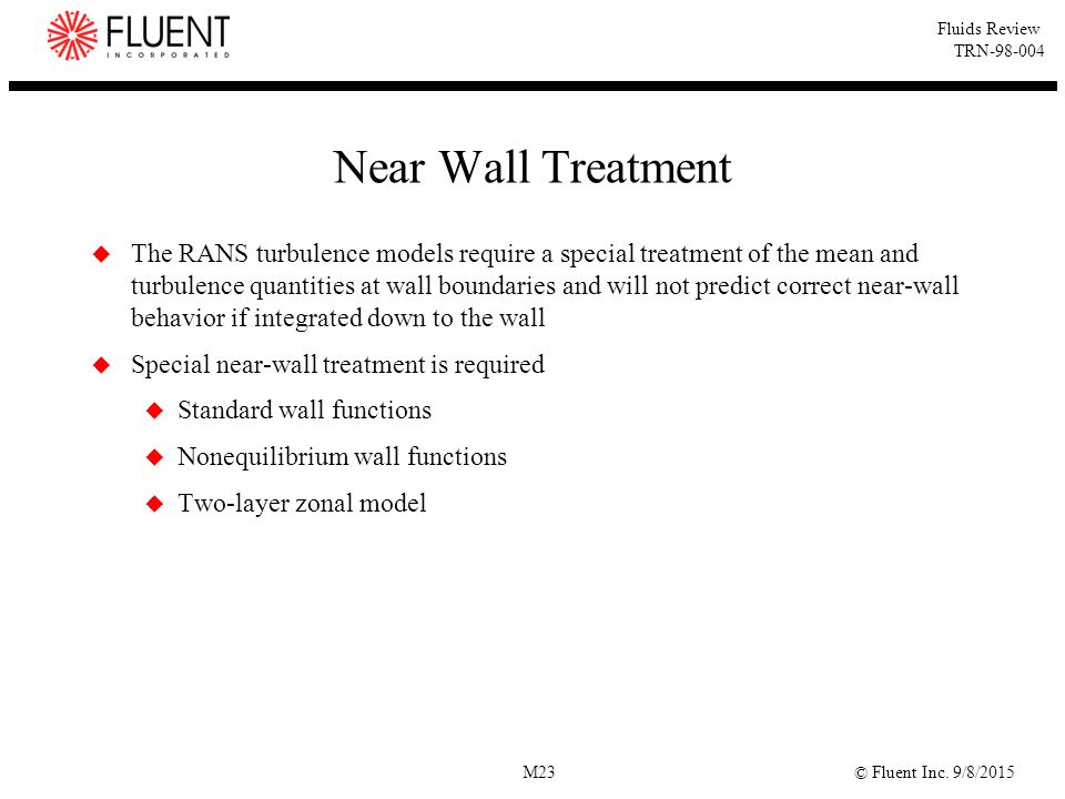 Near Wall Treatment