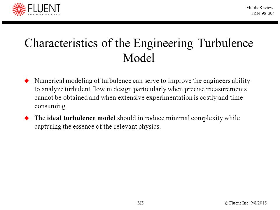 Characteristics of the Engineering Turbulence Model