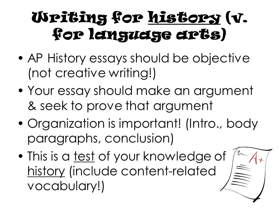 writing for ap history mr hardee ppt video online writing for history v for language arts