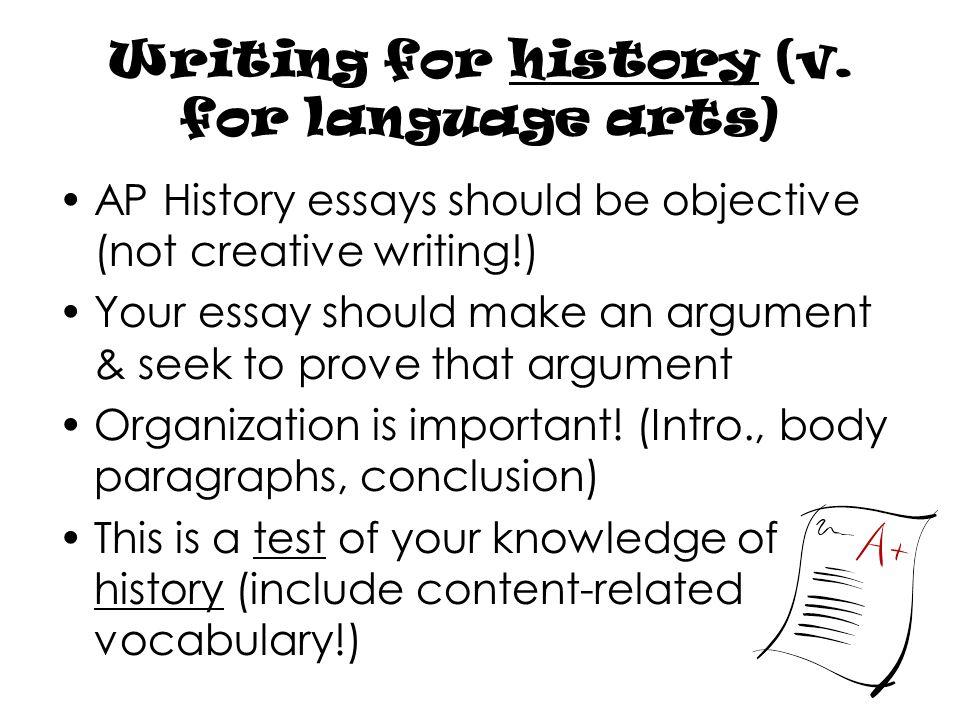 vocabulary history essays