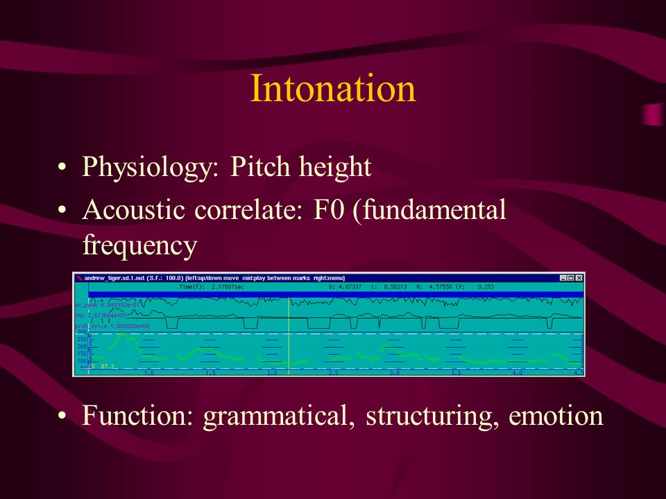 Intonation Physiology: Pitch height