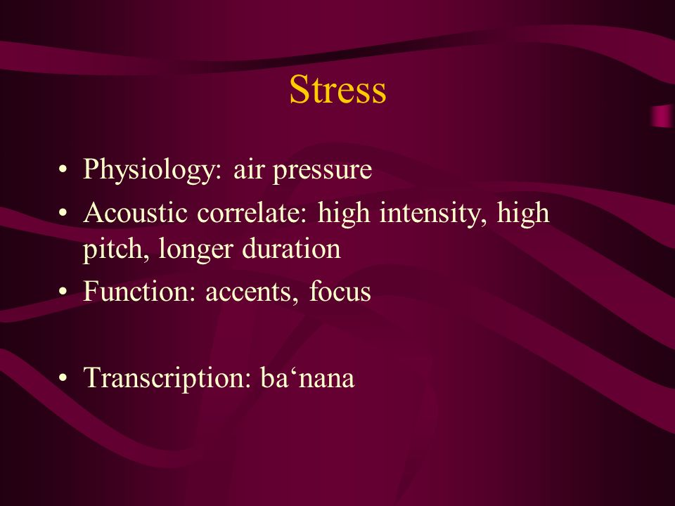 Stress Physiology: air pressure