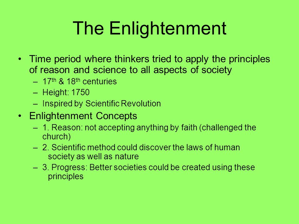 the different thinkers in the enlightenment era