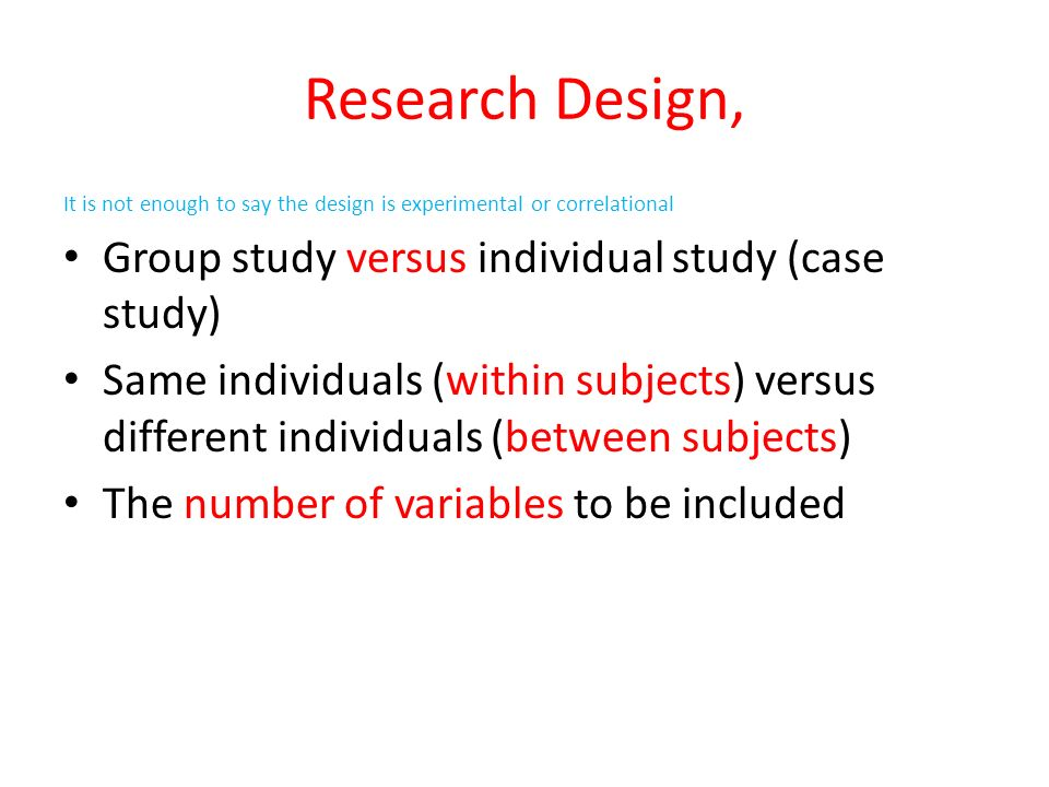 experimental investigation vs correlational research