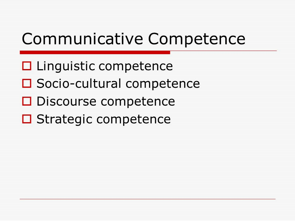 Communicative Competence Essay Sample