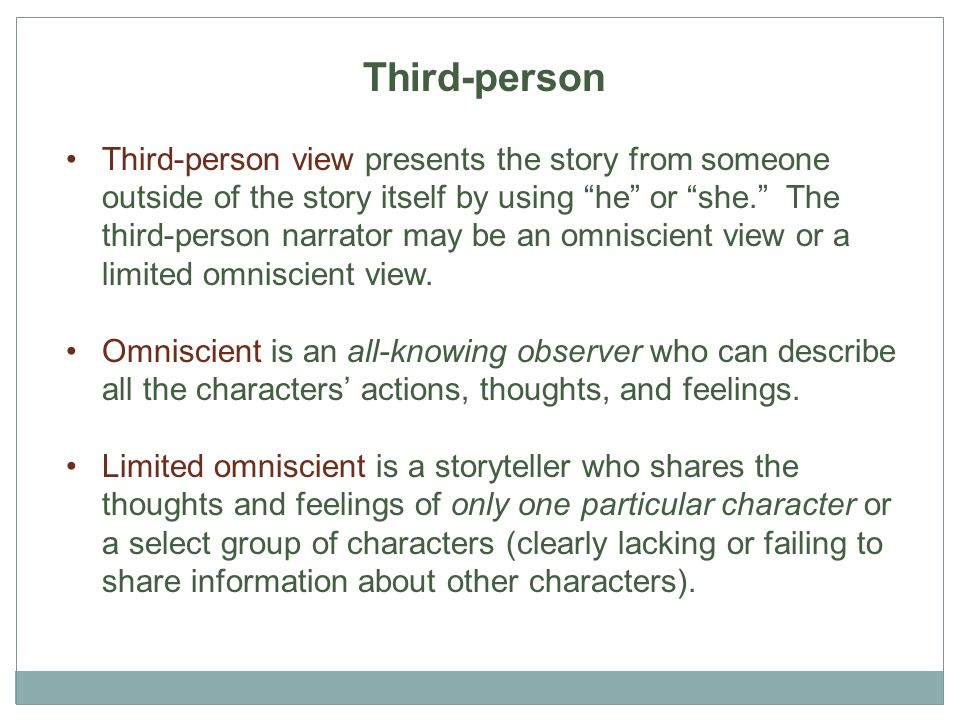 how to start a short story in third person