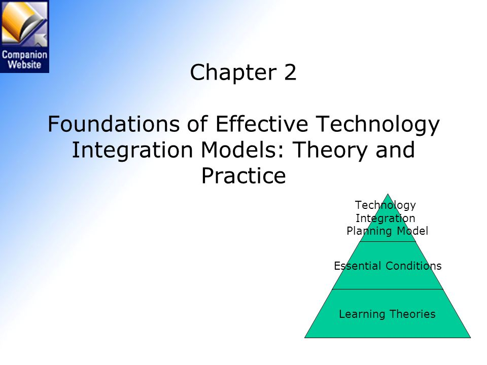 Chapter 2 Foundations of Effective Technology Integration Models: Theory and Practice