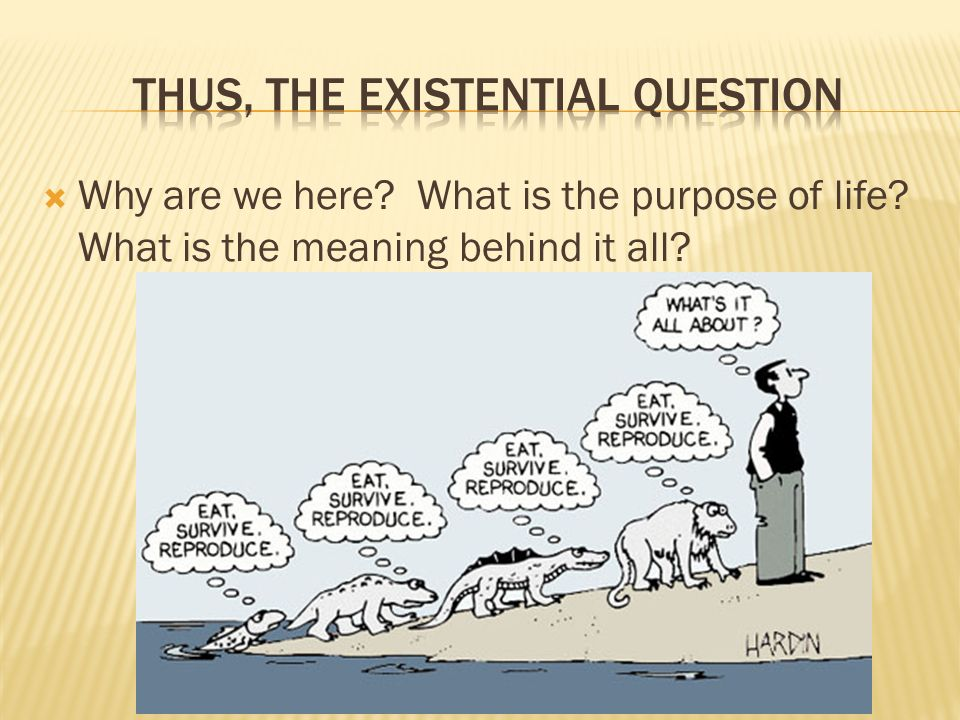 meaning of life existentialism 2 essay Free essay: existentialism is a phiosophy which revolves around the central  i'll  remember that its all a part of life and deep down inside i would not have it.
