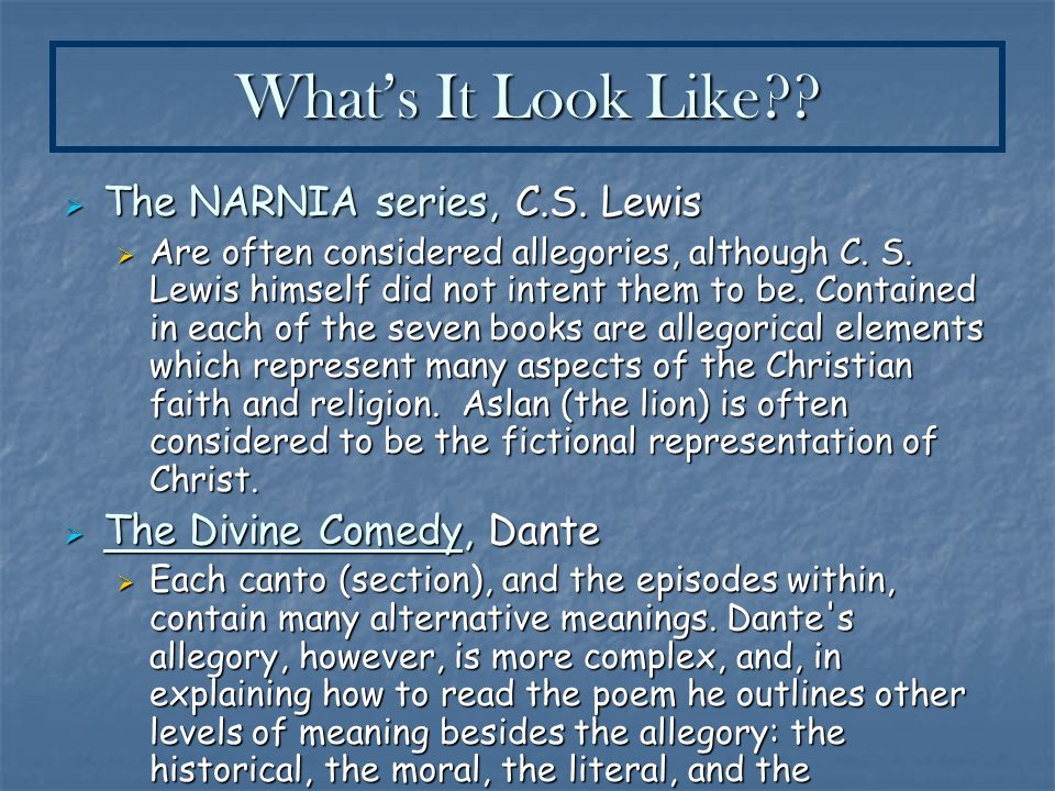 symbolism allegory ppt what s it look like the narnia series c s lewis