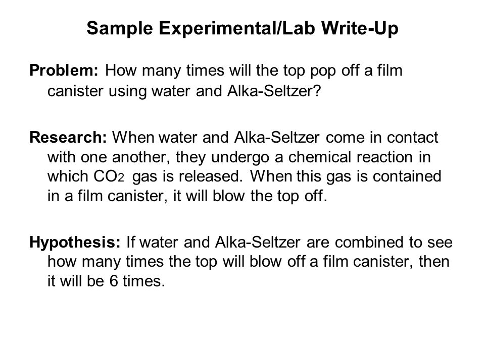 alka seltzer research paper Cellulose, lignin, paper, and other  bicarbonate ion by mass in alka-seltzer  measure of the attention that a research article has.