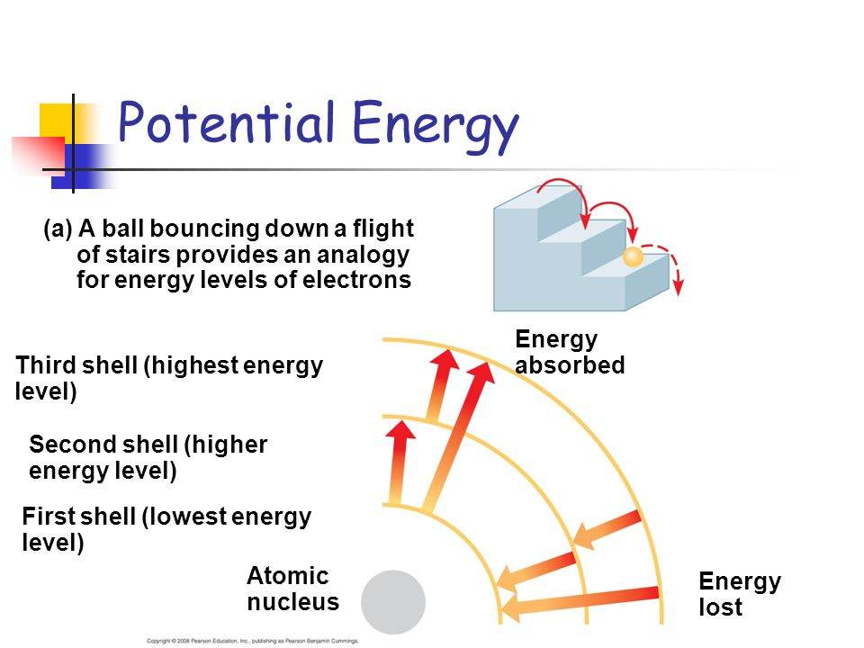 Potential Energy (a) A ball bouncing down a flight