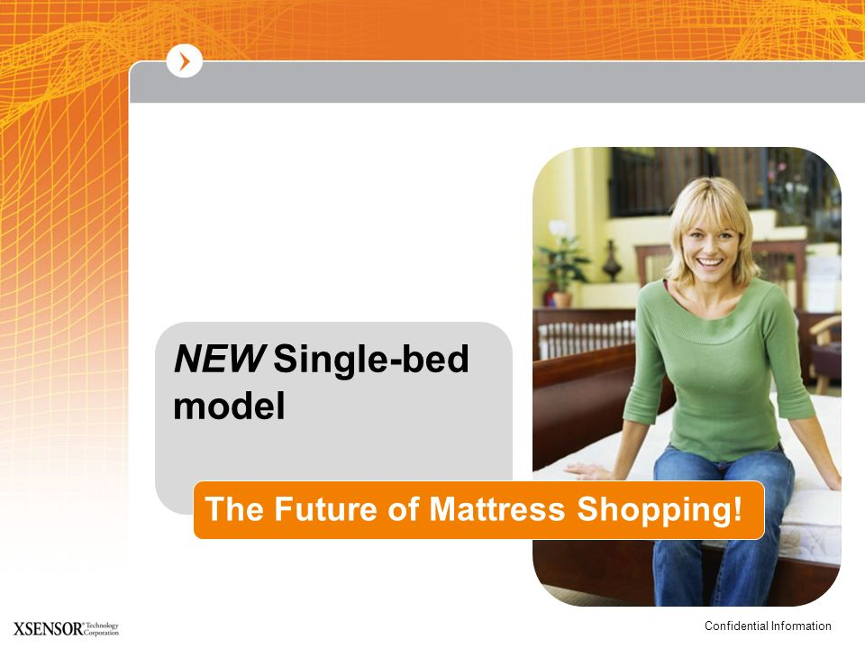 NEW Single-bed model The Future of Mattress Shopping!