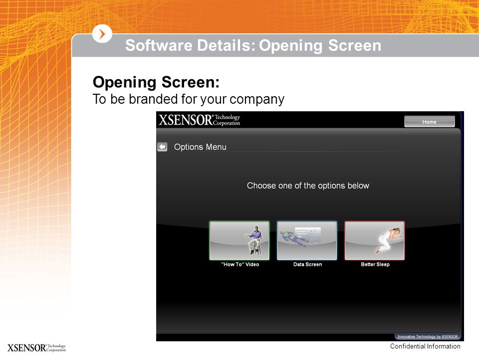 Software Details: Opening Screen