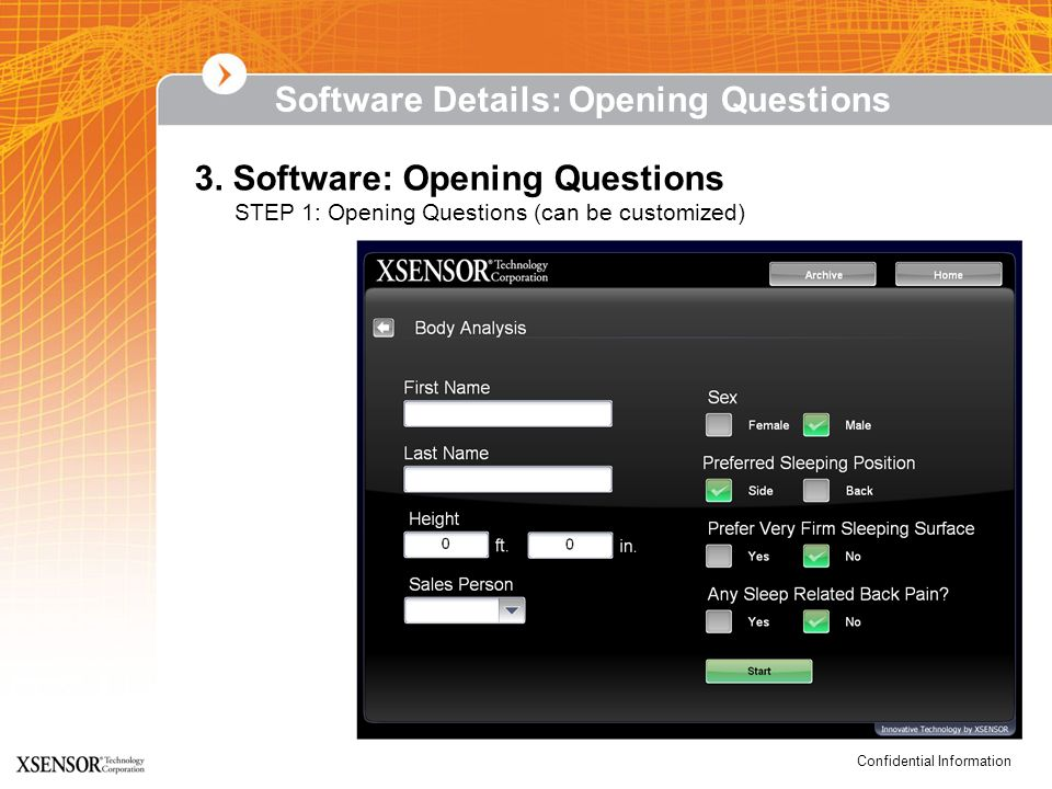 Software Details: Opening Questions