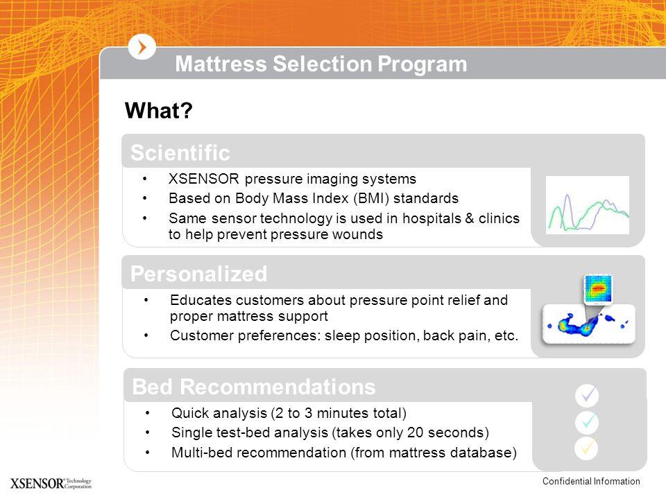 Mattress Selection Program