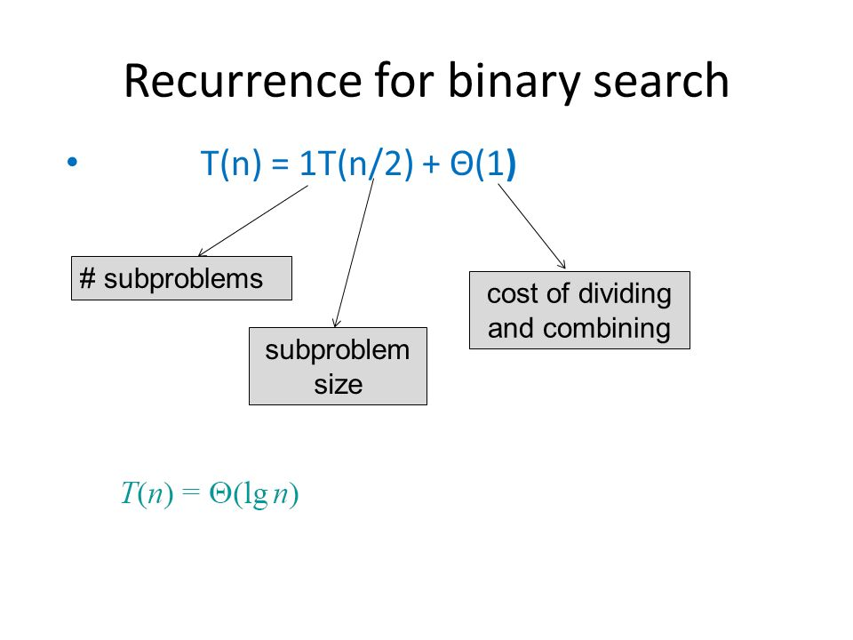 How to prove $O(\\log n)$ is true for a binary search ...