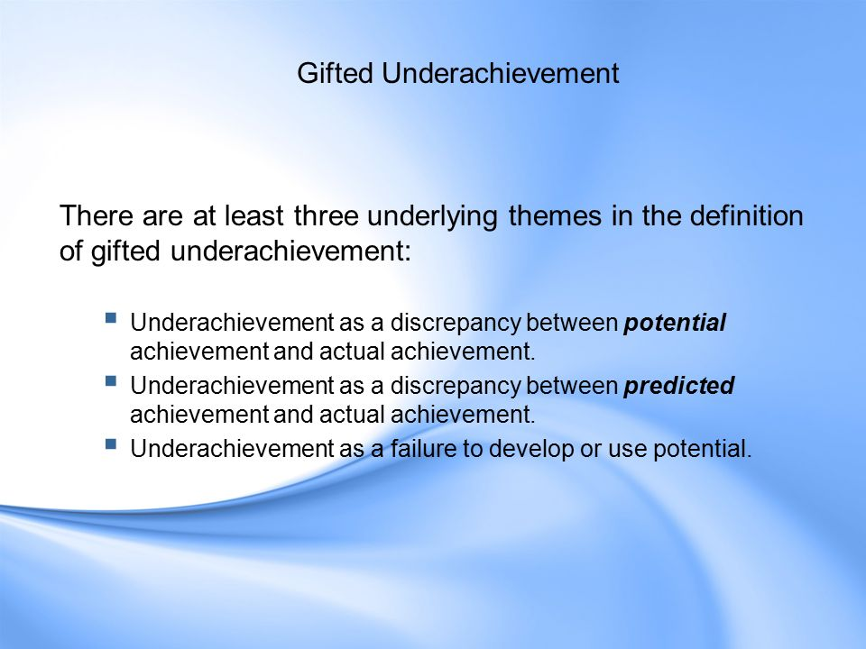 gifted and talented definition pdf