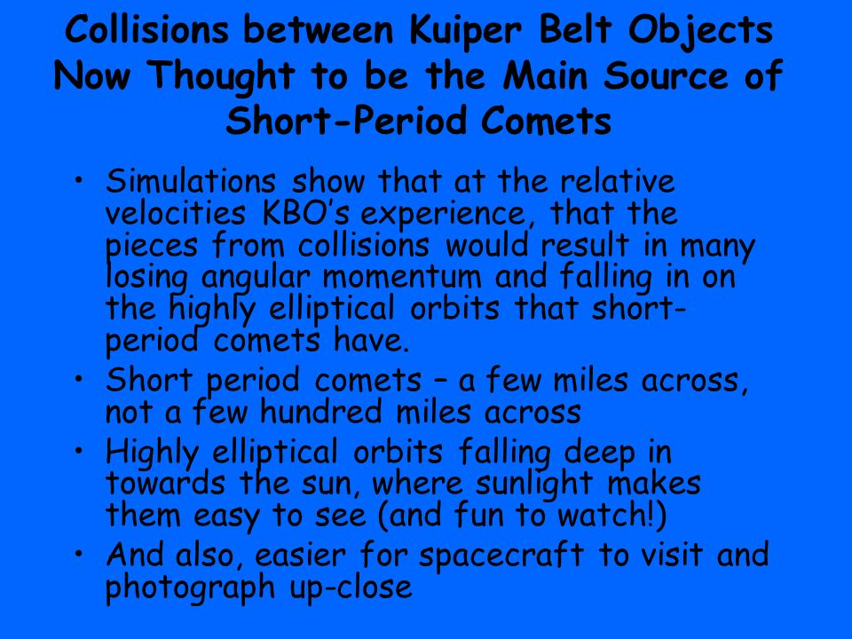 Oort Cloud, Kuiper Belt, Comets, and Asteroids - ppt video ...