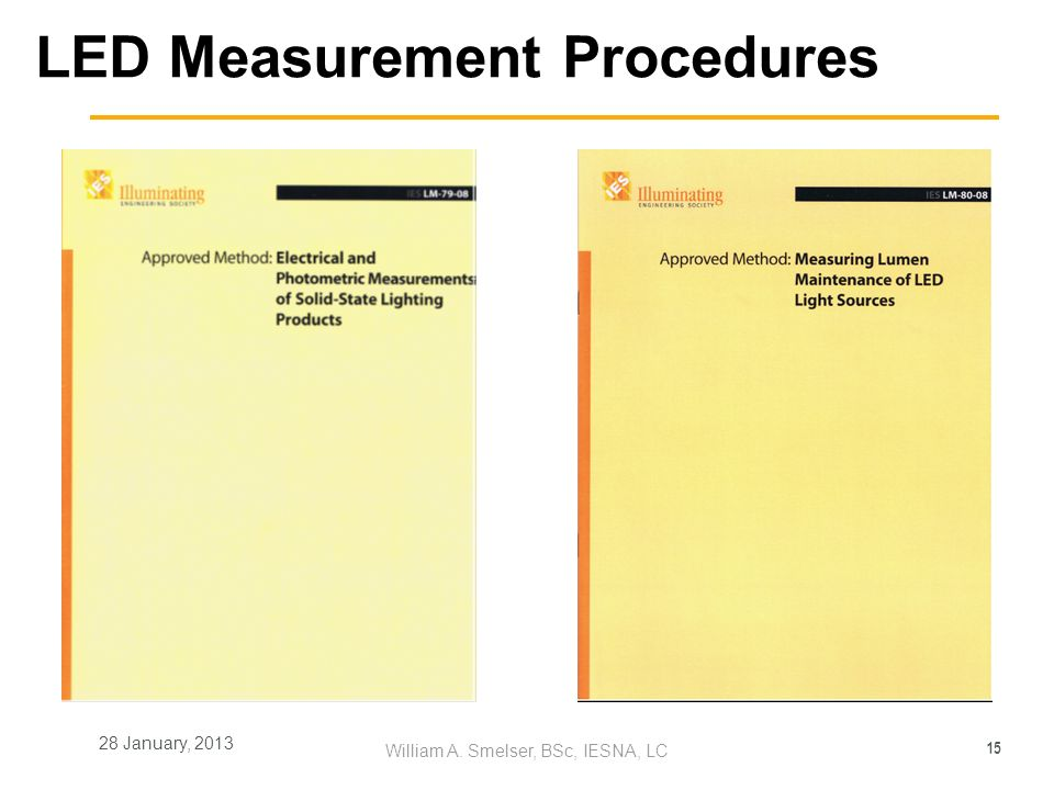 LED Measurement Procedures
