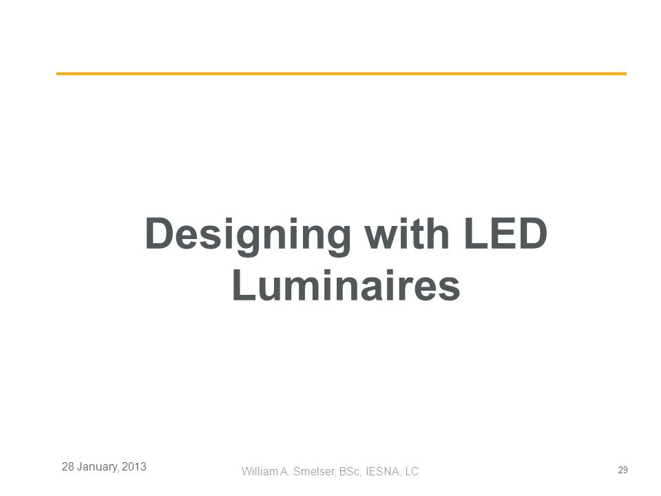 Designing with LED Luminaires