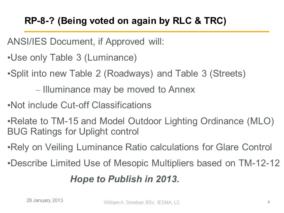 RP-8- (Being voted on again by RLC & TRC)