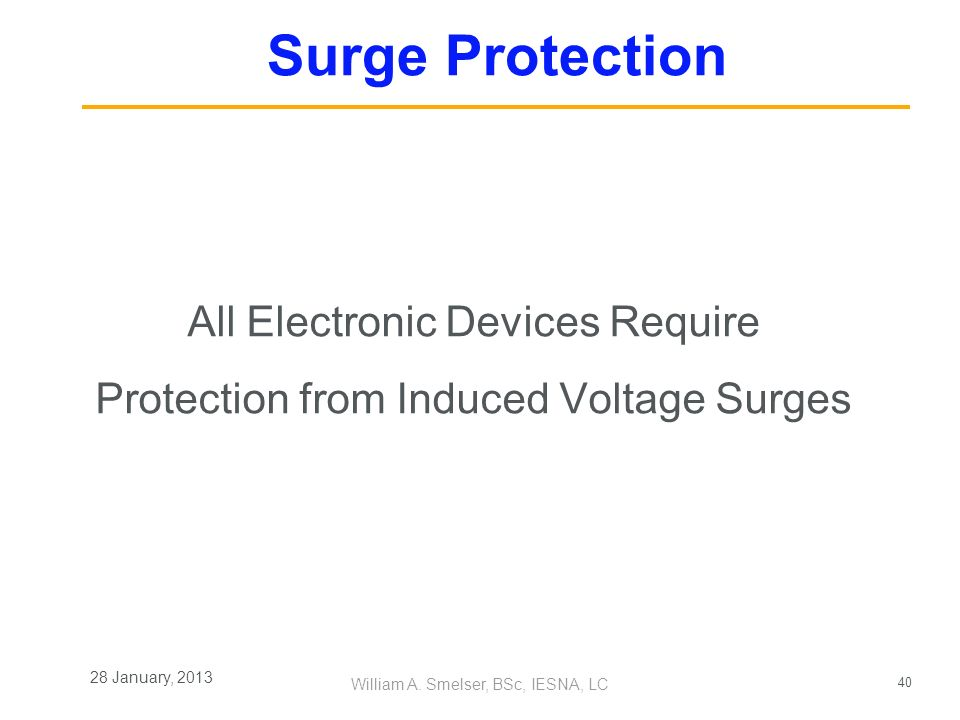 All Electronic Devices Require Protection from Induced Voltage Surges