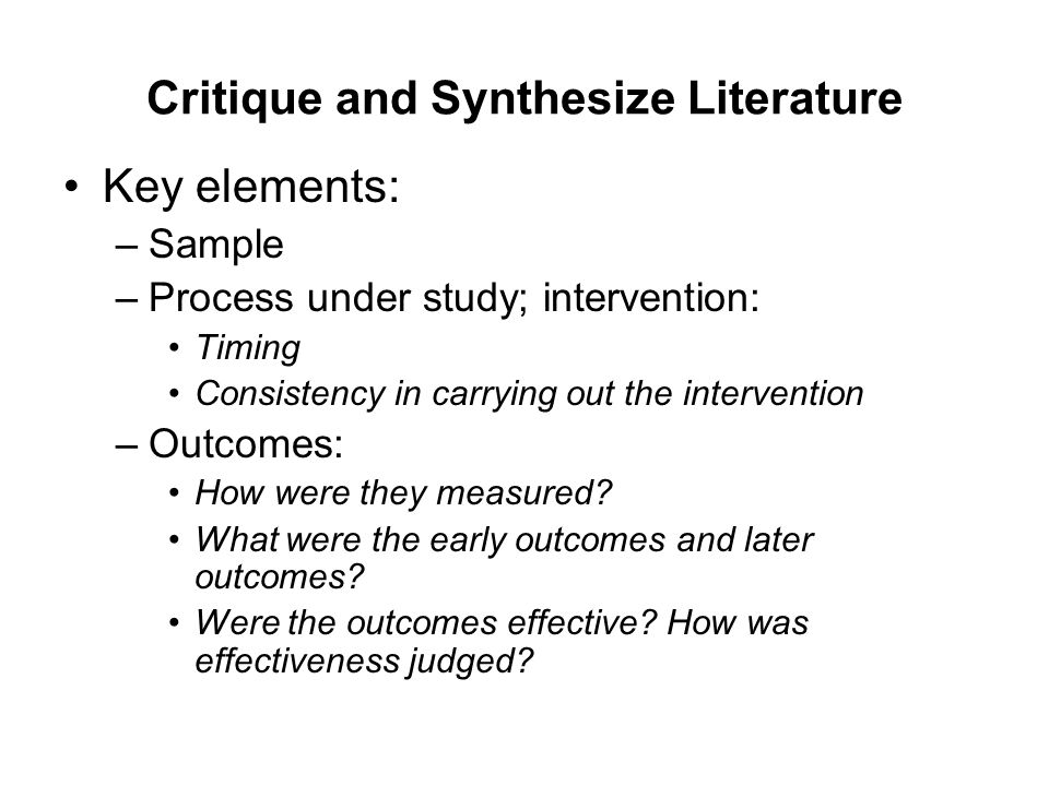 critiquing a literature review in a research article So your assignment is to critique a journal article this handout will give you a few guidelines to follow as you go but wait, what kind of a journal article is it: an empirical/research article, or a review of literature some of the guidelines offered here will apply to critiques of all kinds of.