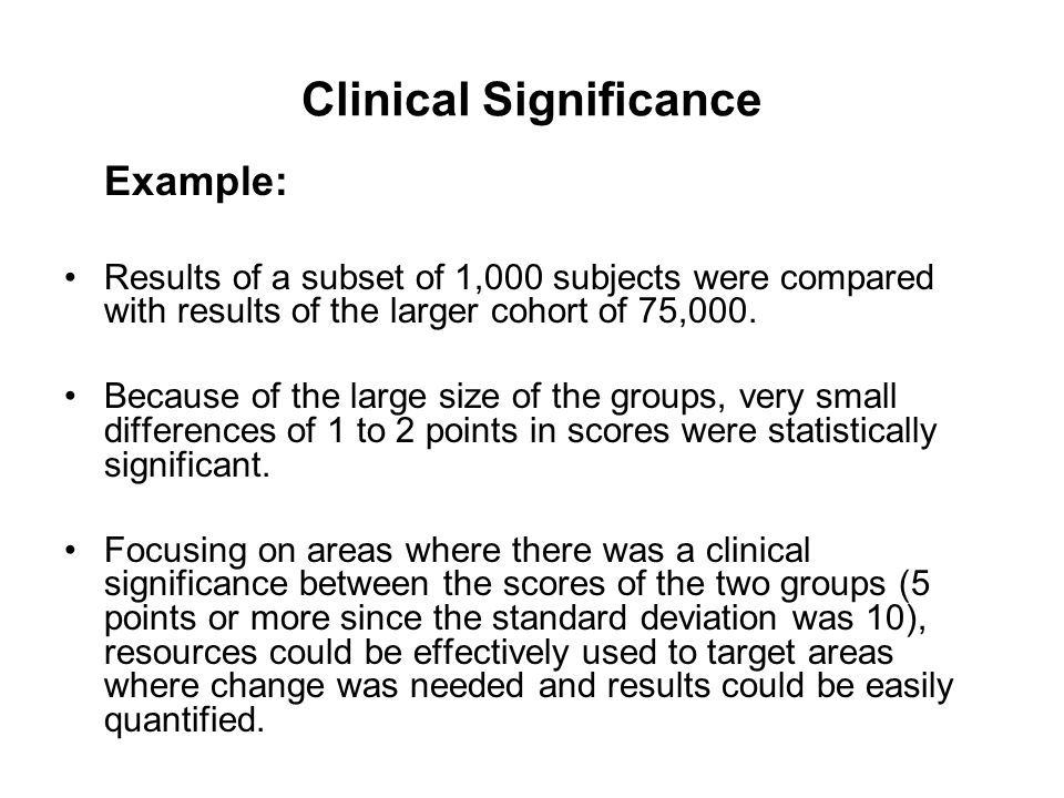 statistically significant evidence and clinically significant evidence Please answer the question separately topic 6 dq1 and a question for all of you topic 6 dq 2 what is the difference between statistically significant evidence and clinically significant evidence.