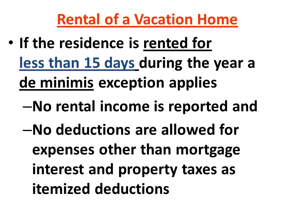 Can Mortgage Interest Be Deducted For Rental Property