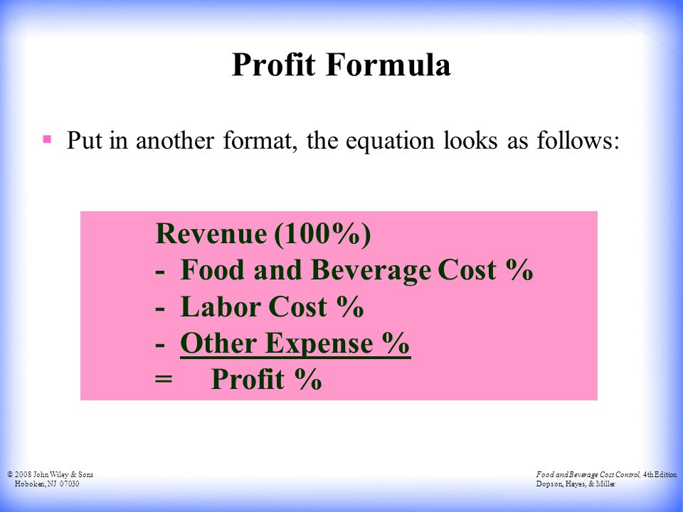how to find profit from revenue and cost