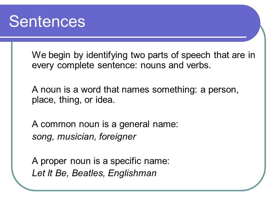 how to make a sentence a name